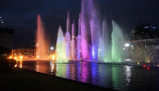 市民の憩いの場!リサール公園の無料噴水ショー