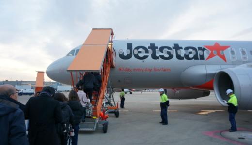 滑走路までの黄昏時飛行機鑑賞!ジェットスターGK115便で成田から札幌・新千歳へ
