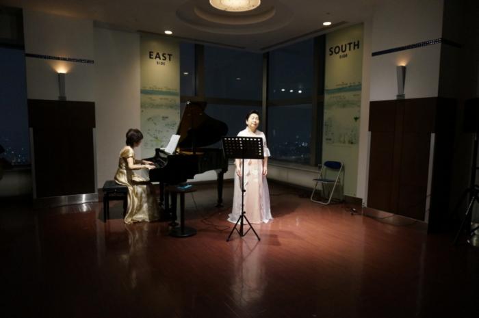 JRタワー展望室のミニコンサート