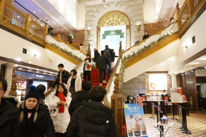 白い恋人パークの中央階段
