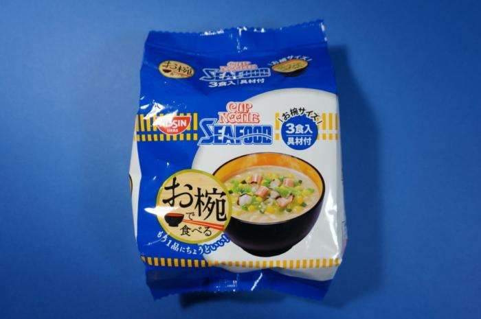お椀で食べる日清カップヌードルシーフード