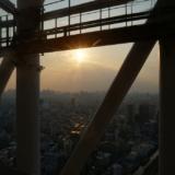 東京スカイツリーテラスツアー 夕陽