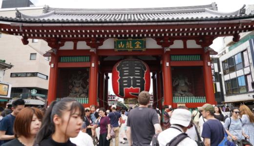 目印は大きな提灯の雷門!観光でも人気の浅草寺は東京で最古のお寺