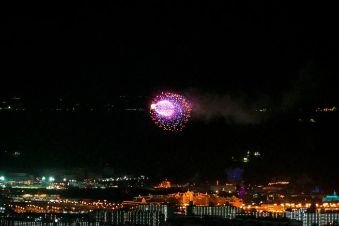 東京スカイツリーから見えるディズニーの花火